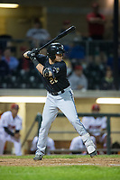 Dominic Miroglio (22) of the Missoula Osprey at bat against the Billings Mustangs at Dehler Park on August 21, 2017 in Billings, Montana.  The Osprey defeated the Mustangs 10-4.  (Brian Westerholt/Four Seam Images)