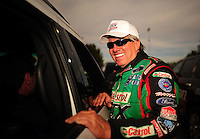 Mar. 30, 2012; Las Vegas, NV, USA: NHRA funny car driver John Force during qualifying for the Summitracing.com Nationals at The Strip in Las Vegas. Mandatory Credit: Mark J. Rebilas-US PRESSWIRE