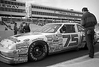 Morgan Shepherd 75 Pontiac 8th place Atlanta Journal 500 at Atlanta International Raceway in Hampton , GA on November 19, 1989.  (Photo by Brian Cleary/www.bcpix.com)