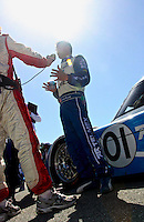 May 17, 2009: Scott Pruett is interviewed after the Verizon Festival of Speed Grand-Am Rolex Series race at Mazda Raceway at Laguna Seca  in Salinas, CA.(Photo by Brian Cleary/www.bcpix.com)