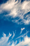 Cirrus Clouds at Sunset and in blue sky