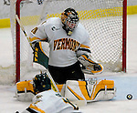 6 January 2007: University of Vermont goaltender Joe Fallon (29) from Bemidji, MN, in action against the University of New Hampshire Wildcats at Gutterson Fieldhouse in Burlington, Vermont. The Wildcats defeated Vermont 2-1 to sweep the two-game weekend series in front of a record setting 49th consecutive sellout at the Gut...Mandatory Photo Credit: Ed Wolfstein Photo.<br />