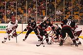 Lewis Zerter-Gossage (Harvard - 77), Ryan Shea (NU - 5), Garret Cockerill (NU - 14), Ryan Ruck (NU - 41), Adam Gaudette (NU - 8) - The Harvard University Crimson defeated the Northeastern University Huskies 4-3 in the opening game of the 2017 Beanpot on Monday, February 6, 2017, at TD Garden in Boston, Massachusetts.