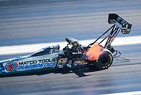 Nov 3, 2019; Las Vegas, NV, USA; NHRA top fuel driver Antron Brown during the Dodge Nationals at The Strip at Las Vegas Motor Speedway. Mandatory Credit: Mark J. Rebilas-USA TODAY Sports