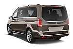 Car pictures of rear three quarter view of a 2015 Mercedes Benz V-CLASS AVANTGARDE 5 Door Minivan 2WD Angular Rear
