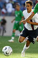 Josh Wolff runs for the ball. USA (0) vs Morocco (1) at the Coliseum, Nashville, TN  May 23 2006