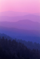 Ridges of Smoky Mountains at dawn, Great Smoky Mountains National Park, Tennessee and North Carolina