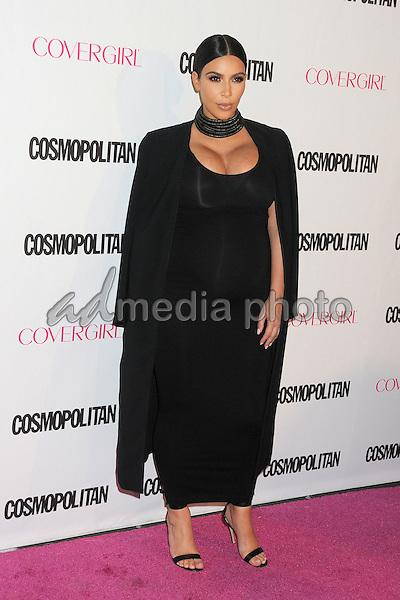 12 October 2015 - Hollywood, California - Kim Kardashian West. Cosmopolitan 50th Birthday Celebration held at Ysabel. Photo Credit: Byron Purvis/AdMedia
