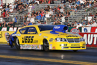Feb. 17, 2013; Pomona, CA, USA; NHRA pro stock driver Jeg Coughlin during the Winternationals at Auto Club Raceway at Pomona. Mandatory Credit: Mark J. Rebilas-