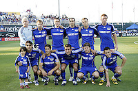 Kansas City Wizards starting XI.Kansas City Wizards and DC United played to a 1-1 draw at Community America Ballpark, Kansas City, Kansas.