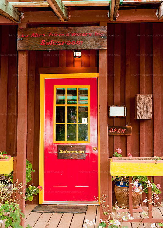 The front door to the tasting room at Mountain Cove Vineyards.