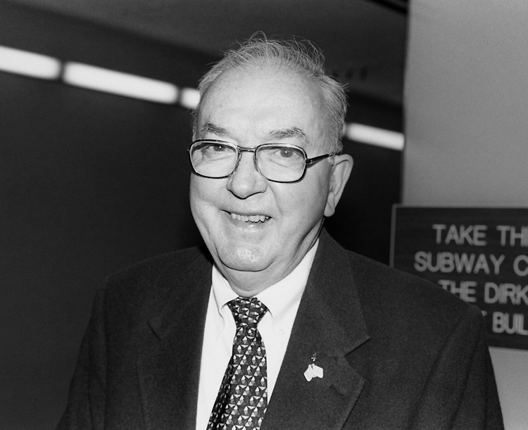 Close-up of Sen. Jesse Helms, R-N.C. March 14, 1994. (Photo by Chris Martin/CQ Roll Call)