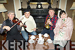 Neilie Moynihan, Derry Healy, Brendan O'Sullivan and Mary O'Callaghan getting the music and the tea ready for the Glenflesk Rambling House which will be held on the 28th October