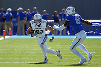 October 22, 2016 - Colorado Springs, Colorado, U.S. -   Hawaii wide receiver, Dylan Collie #23, during the NCAA Football game between the University of Hawaii Rainbow Warriors and the Air Force Academy Falcons, Falcon Stadium, U.S. Air Force Academy, Colorado Springs, Colorado.  Hawaii defeats Air Force in double overtime 43-27.