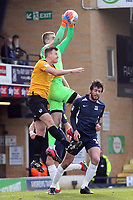 Patrik Gunnarsson of Southend United catches under pressure from Tony Craig of Bristol Rovers during Southend United vs Bristol Rovers, Sky Bet EFL League 1 Football at Roots Hall on 7th March 2020