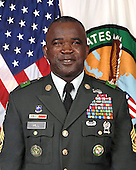 Tampa, FL - (FILE) -- File photo taken January 9, 2009 of Command Sergeant Major Marvin L. Hill, who entered the Army on 18 January 1978 in Memphis, Tennessee.  He assumed the duties of Command Senior Enlisted Leader for United States Central Command on 15 December 2008 following his tour of duty as Command Sergeant Major of Multi-National Force-Iraq from April 2007 to November 2008.  Command Sergeant Major Hill's assignments include: 9th Infantry Division, Fort Lewis Washington; 193d Infantry Brigade, Fort Kobbe, Panama; 327th Infantry Regiment, 101st Airborne Division (Air Assault) Fort Campbell, Kentucky; 4th Training Brigade and United States Army Noncommissioned Officer Academy and Drill Sergeant School, Fort Knox, Kentucky; United States Corps of Cadets, United States Military Academy, West Point, New York; 9th Infantry Regiment, 2d Infantry Division, Camp Hovey, Korea; Staff and Faculty, United States Army Sergeants Major Academy, Fort Bliss, Texas; 502d Infantry Regiment; Headquarters 2d Brigade, and Headquarters 101st  Airborne Division (Air Assault) and Headquarters First United States Army.  Command Sergeant Major Hill has served from Rifleman to Command Sergeant Major in infantry units. Additionally, he has served as a First Sergeant, a Battalion Operations Sergeant, a Tactical Noncommissioned Officer, a Drill Sergeant, a Drill Sergeant Instructor, and as a Faculty Advisor at the United States Army Sergeants Major Academy. He also served as Task Force Command Sergeant Major for TF 1-502d Infantry, Multinational Force and Observers, Sinai, Egypt and as the Task Force Falcon (KFOR 3-A) Command Sergeant Major while serving as the Brigade Command Sergeant Major for 2d Brigade, 101st Airborne Division (Air Assault).  As the Division Command Sergeant Major of the 101st Airborne Division (Air Assault), he deployed to Iraq in support of Operation Iraqi Freedom. He also served as the Task Force Command Sergeant Major for Joint Task Force-Katrina in response to Hu