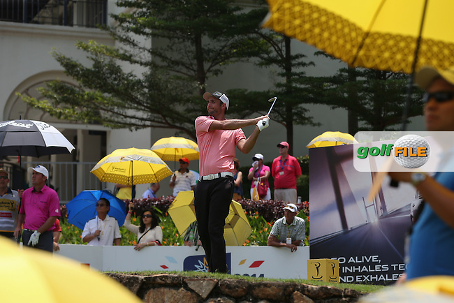Steve Lewton (ENG) on the 15th tee during Round Three of the 2014 Maybank Malaysian Open at the Kuala Lumpur Golf & Country Club, Kuala Lumpur, Malaysia. Picture:  David Lloyd / www.golffile.ie