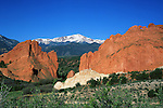 Pikes Peak and Garden of the Gods State Park, Colorado,Springs, Colorado, USA. John leads private photo tours throughout Colorado, year-round.