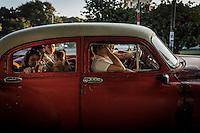 Taxakørsel i Havana, Cuba. Foto: Jens Panduro.