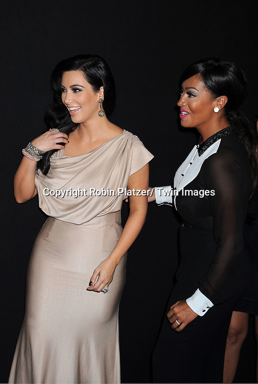 Kim Kardashian and La La Anthony attending the Kim Kardashian and husband Kris Humphries Welcome to New York Party on August 31, 2011 at Capitale in New York City.