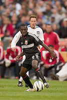 D.C. United's Freddy Adu. DC United defeated the San Jose Earthquakes 2 to 1 during the MLS season opener at RFK Stadium, Washington, DC, on April 3, 2004.