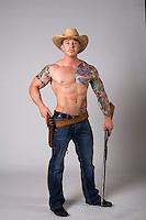 Western cowboy themed Romance Novel cover stock photograph by Jenn LeBlanc for Illustrated Romance