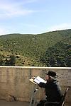 Israel, Upper Galilee, a prayer by the tomb of Rabbi Shimon Bar Yochai at Meron