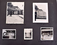BNPS.co.uk (01202 558833)<br /> Pic: C&amp;TAuctions/BNPS<br /> <br /> Candid snaps around the Berghof, Hitler's home near Salzburg.<br /> <br /> A photo album containing never-before-seen candid snaps of Adolf Hitler that was found in Eva Braun's bedroom drawer in the Fuhrer's Bunker has sold for more than &pound;41,000.<br /> <br /> The remarkable images show the Nazi dictator and his henchmen in rare lighter moments of the Second World War.<br /> <br /> The album, which was unearthed after 72 years, sparked fervent interest and attracted a phone bid of more than double its estimate of &pound;18,000.<br /> <br /> The hammer price was &pound;34,000, with extra fees pushing the final total to &pound;41,140.<br /> <br /> There is one snap of a grinning Hitler in a 'Chaplinesque' pose and offering a playful salute to the person taking the photo outside his Berghof headquarters. Two more show him smiling in front of a crowd of children saluting him.