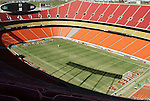30 October 2004: Arrowhead Stadium, home of the National Football League's Kansas City Chiefs and Major League Soccer's Kansas City Wizards is being prepared for a busy weekend including games by both teams..