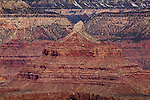 View of Isis Temple from the South Rim, Grand Canyon National Park, AZ, USA