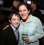 Noah Hinsdale and mom attend the DGF Reception for Andrew Lippa & Friends at Landmarc on February 1, 2017 in New York City.