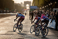 Breakaway group with Nils Politt (GER/Katusha Alpcecin) on the Champs-Elysées.<br /> <br /> Stage 21: Rambouillet to Paris (128km)<br /> 106th Tour de France 2019 (2.UWT)<br /> <br /> ©kramon
