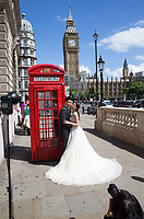 Andy and Victoria from China celebrate their honeymoon in London