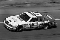 DAYTONA BEACH, FL - FEBRUARY 16: Ricky Rudd drives his Bud Moore Ford during the Daytona 500 NASCAR Winston Cup race at the Daytona International Speedway in Daytona Beach, Florida, on February 16, 1986.