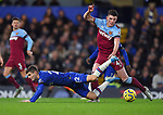 Christian Pulisic of Chelsea is challenged by Declan Rice of West Ham United during the Premier League match at Stamford Bridge, London. Picture date: 30th November 2019. Picture credit should read: Robin Parker/Sportimage