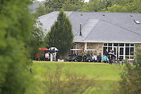 Gavin Smyth (Mount Juliet) on the 1st tee during the Final round of the Irish Mixed Foursomes Leinster Final at Millicent Golf Club, Clane, Co. Kildare. 06/08/2017<br /> Picture: Golffile | Thos Caffrey<br /> <br /> <br /> All photo usage must carry mandatory copyright credit      (&copy; Golffile | Thos Caffrey)