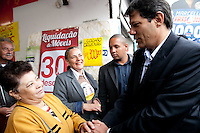 ATENCAO EDITOR: FOTO EMBARGADA PARA VEICULOS INTERNACIONAIS<br /> SAO PAULO, SP, 26 SETEMBRO 2012 - O candidato a prefeitura de Sao Paulo Fernando Haddad PT durante Caminhada em Santana<br /> FOTO: POLINE LYS - BRAZIL PHOTO PRESS