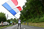 FDJ fan flys the French flag during Stage 10 of the 104th edition of the Tour de France 2017, running 178km from Perigueux to Bergerac, France. 11th July 2017.<br /> Picture: ASO/Pauline Ballet | Cyclefile<br /> <br /> <br /> All photos usage must carry mandatory copyright credit (&copy; Cyclefile | ASO/Pauline Ballet)