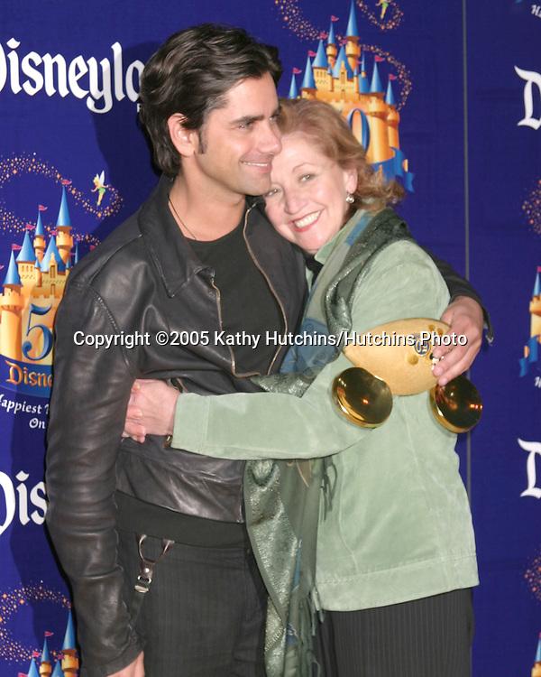 John Stamos and mother.Disneyland 50th Anniversary Party.Anaheim,  CA.May 4, 2005.©2005 Kathy Hutchins / Hutchins Photo