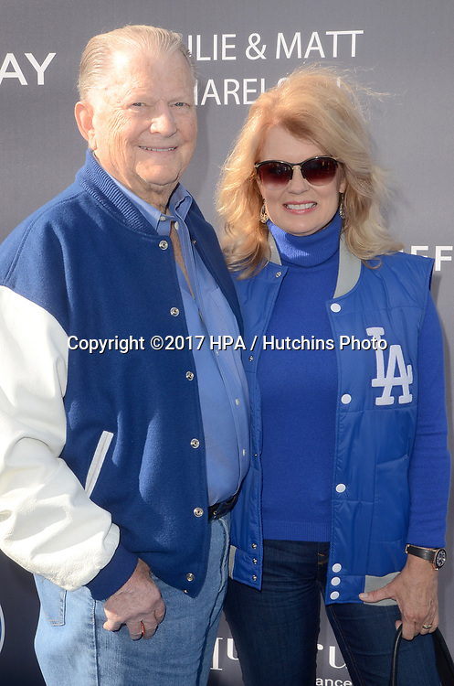 LOS ANGELES - JUN 8:  Burt Sugarman, Mary Hart at the Los Angeles Dodgers Foundations 3rd Annual Blue Diamond Gala at the Dodger Stadium on June 8, 2017 in Los Angeles, CA