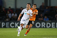 Barnet's Ruben Bover keeps a close eye on Swansea's recent signing, Roque Mesa during Barnet vs Swansea City, Friendly Match Football at the Hive Stadium on 12th July 2017