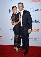 BEVERLY HILLS, CA. December 4, 2016: Jamie-Lynn Sigler &amp; Cutter Dykstra at the 2016 TrevorLIVE LA Gala at the Beverly Hilton Hotel.<br /> Picture: Paul Smith/Featureflash/SilverHub 0208 004 5359/ 07711 972644 Editors@silverhubmedia.com