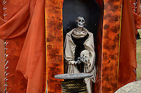 A sculpture is seen at Autonomous University of Mexico while they  celebrate the day of the dead in honor  to the 50 anniversary of the death of the Spanish-Mexican surrealist painter Remedios Varo, October 25, 2013. Photo by Miguel Angel Pantaleon/VIEWpress