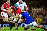 Justin Tipuric of Wales is tackled by Cyril Baille of France during the Guinness Six Nations Championship Round 3 match between Wales and France at the Principality Stadium in Cardiff, Wales, UK. Saturday 22 February 2020