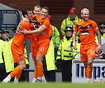 Gavin Gunning celebrates his goal for Dundee Utd