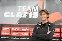 SCHAATSEN: HEERENVEEN: 21-10-2016, Perspresentatie Team Clafis, Niels Mesu, ©foto Martin de Jong