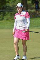 Angel Yin (USA) after sinking her putt on 1 during round 4 of the 2018 KPMG Women's PGA Championship, Kemper Lakes Golf Club, at Kildeer, Illinois, USA. 7/1/2018.<br /> Picture: Golffile | Ken Murray<br /> <br /> All photo usage must carry mandatory copyright credit (&copy; Golffile | Ken Murray)