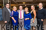 Attending the Kerins Park 50th anniversary social held at The Rose Hotel, Tralee, on Saturday night last, were l-r: James McCarthy Sharon O'Mahony, Don O'Mahony, Cissie O'Mahony, Marion O'Mahony and Terry O'Connell.