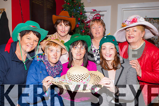 Get your glamourous hats out of their boxes girls as Kilcummin GAA Ladies committee have organised a fancy hats dance in aid of the Encology day care unit at Kerry General Hospital which will be held in the Kilcummin Klub bar on January 3rd front row l-r: Kate Fleming, Carmel O'Riordan, Elaine Coffey. Back row: Teresa Casey, Kathleen Ryan, Marie Brosnan, and Eileen O'Leary