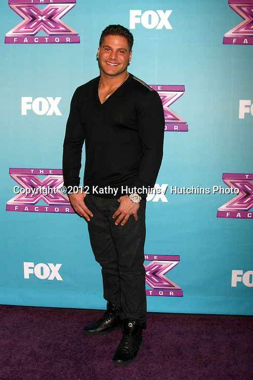 LOS ANGELES - DEC 19:  Ronnie Ortiz-Magro at the 'X Factor' Season Finale performances  show taping at CBS Television City on December 19, 2012 in Los Angeles, CA
